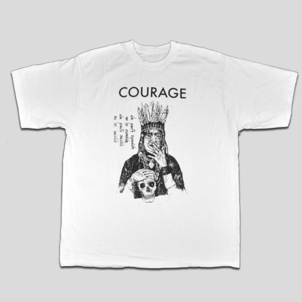 T-Shirt Courage Fronte - HL Café